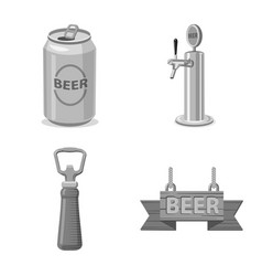 Pub and bar sign set of vector