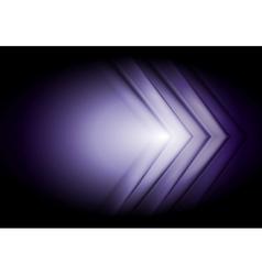 Purple technology background Big arrows vector