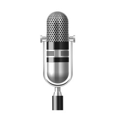 radio microphone or isolated studio mic vector image
