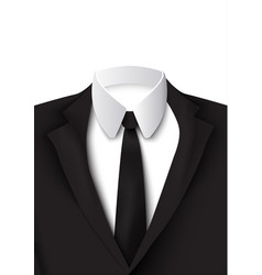 Realistic black suit object vector