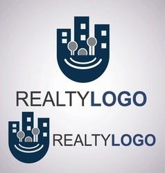 realty logo 8 3 vector image