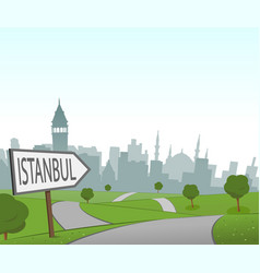 road to istanbul vector image