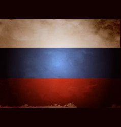 russia flag vintage vector image