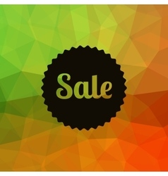 Sale poster Discounts banner template Polygonal vector image
