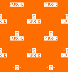 saloon pattern orange vector image