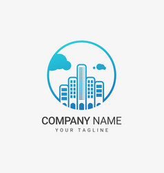 skyline logo template vector image