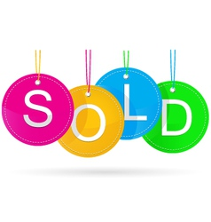 sold icon with color vector image