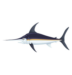 swordfish sea and ocean icon marlin cuisine vector image