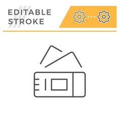 tickets editable stroke line icon vector image