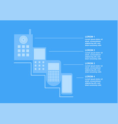 Transformation of mobile phone form ancient to vector