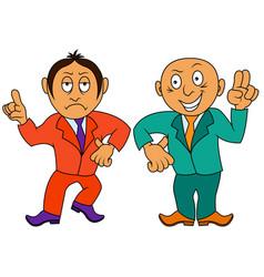 Two cartoon amusing and funny men vector