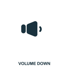 volume down icon line style icon design ui vector image