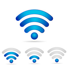 wifi 3d icons set vector image