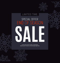 winter end season sale poster template vector image