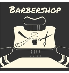 with barber tools vector image