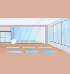 Yoga studio healthy lifestyle concept empty no vector