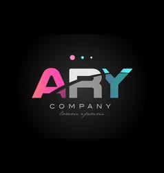 ary a r y three letter logo icon design vector image vector image
