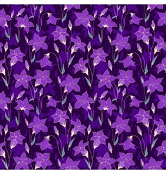 Beautiful wild bluebell flowers seamless pattern 4 vector image vector image