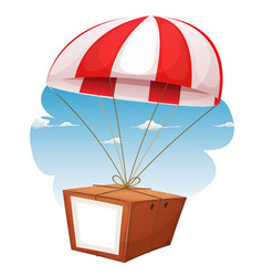 cardboard shipping via airmail vector image