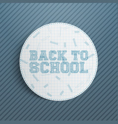 Realistic back to school banner vector