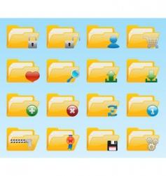 shiny folder icons set vector image vector image