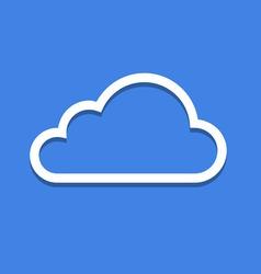 Web Cloud Icon vector image vector image