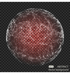 Abstract mesh spheres Futuristic technology low vector image