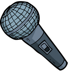 cartoon doodle microphone vector image vector image