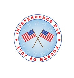 Independence Day sign vector image vector image