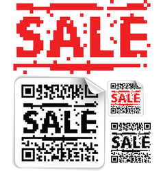 sale qr codes vector image