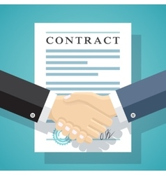 Signing of a treaty business contract vector image
