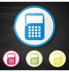 Web element Calculator vector image