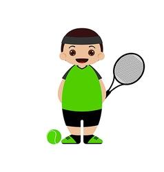 Cartoon tennis player vector image