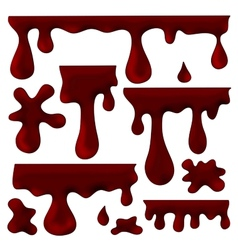 chocolate blots splashes and smudges vector image