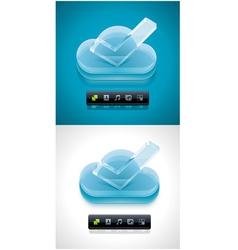cloud computing xxl icon vector image