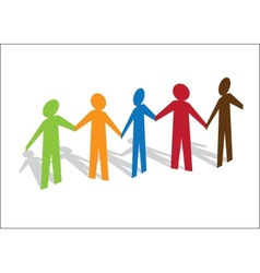 Multiracial Paper People vector image