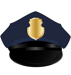 Police hat vector image