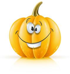 smiling ripe orange pumpkin vector image vector image