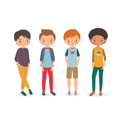 stylish boys vector image vector image