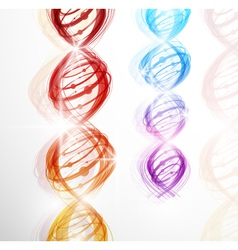 abstract dna background vector image vector image