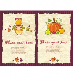 autumn grunge backgrounds vector image