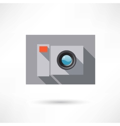camera in a flat design icon vector image vector image