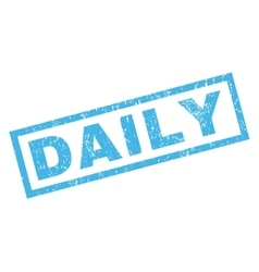 Daily Rubber Stamp vector image