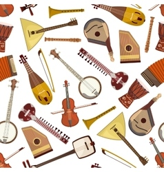 Ethnic musical instrument seamless pattern vector image