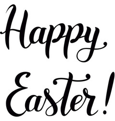 modern brush calligraphy of happy easter vector image vector image