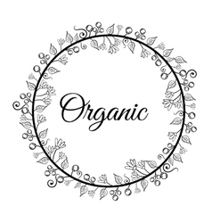 Organic natural food label vector image vector image