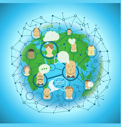 social media network concept abstract vector image