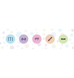 5 horizontal icons vector