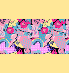 Abstract seamless grunge colorful pattern vector
