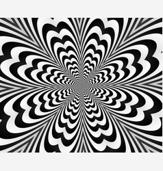 Abstract spiral black andwhitewith optical vector